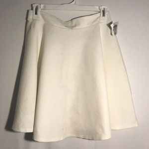 Charlotte Russe Round Skirt White Large